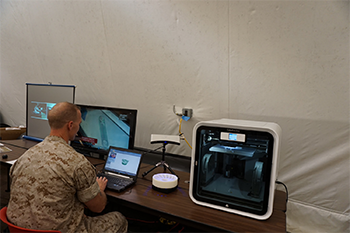 3d scaning-to-print at Marines ExLog games