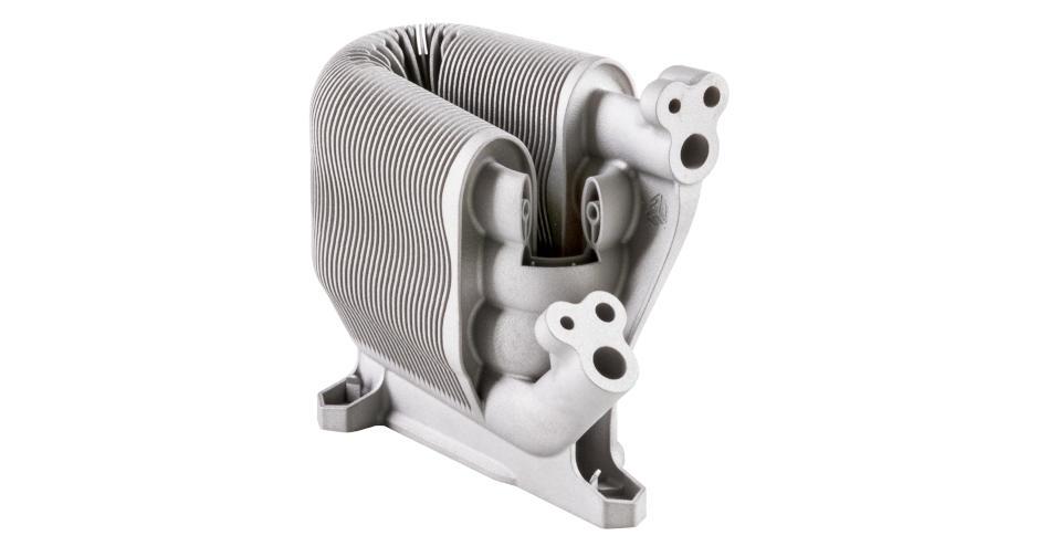Un échangeur de chaleur lamellaire imprimé en 3d en LaserForm 316L (B) en acier inoxydable